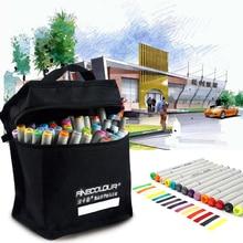 160 farben Doppelkopf Skizze Alkohol Filzstift 24 36 48 60 72 Teile/satz Animation Farbe Sketch Art Copic Marker
