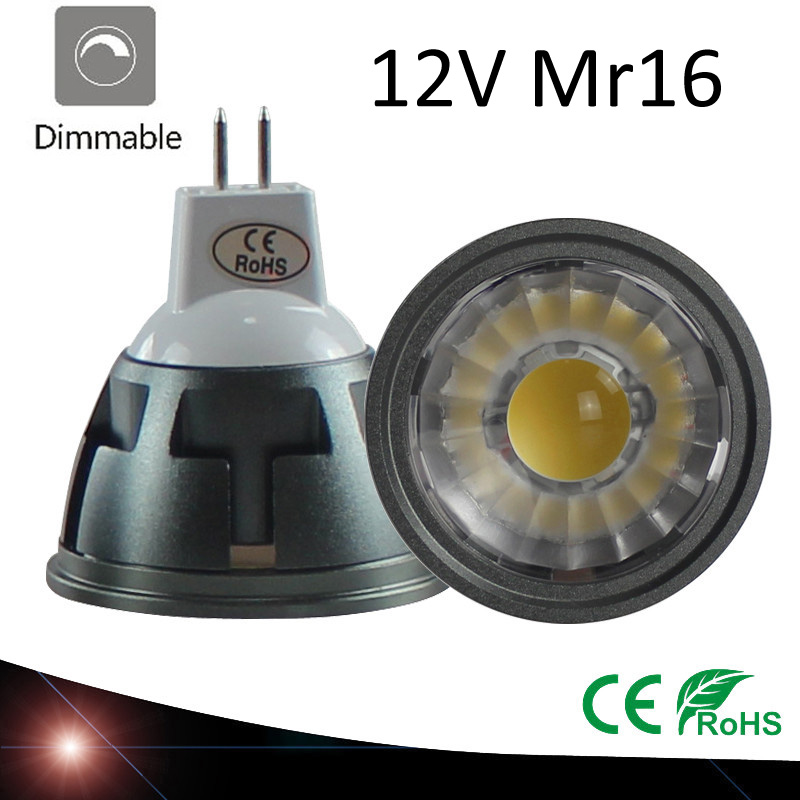 New High Power Lampada Led MR16 GU5.3 COB 3w 5w 7w Dimmable Led Cob Spotlight Warm Cool White MR 16 12V Bulb Lamp GU 5.3 220V ...