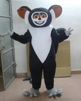 Lovely Black Koala Bear Koala Mascot Costume With Black Round Big Nose Big Head Black Short Arms Legs Adult Size free shipping