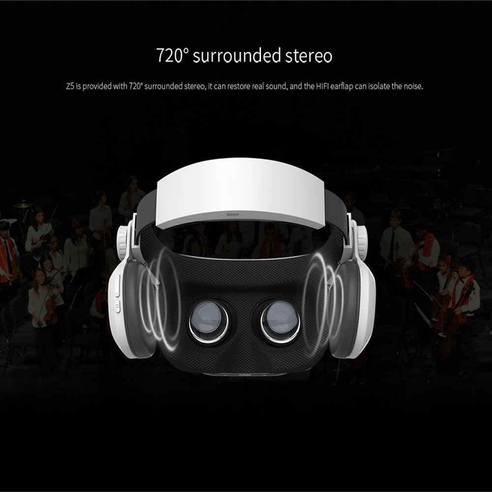Moveksi BOBO VR Z5 Daydream View 3D VR Headset with Remote Controller FOV 120 IPD Focus Adjustable for Daydream Smartphones