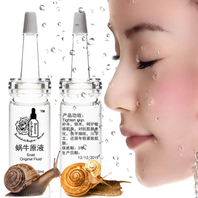 10ml*2pcs Snail Original Fluid 10ml after sun repair Shrink pores acne remove red blood moisturizing anti-wrinkle