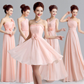 2017 new arrival pink prom dress for women elegant a line gown fashion design chiffon formal cute strapless sexy in stock