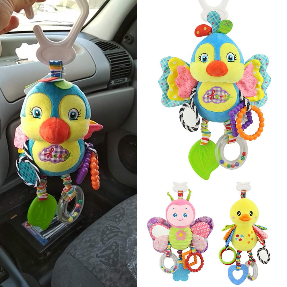 Animal Baby Toys 0-12 months Newborns Stuffed Rattles Mobile Bed Stroller Hanging Rattle Rabbit Teether Appease Toy With BB Bell