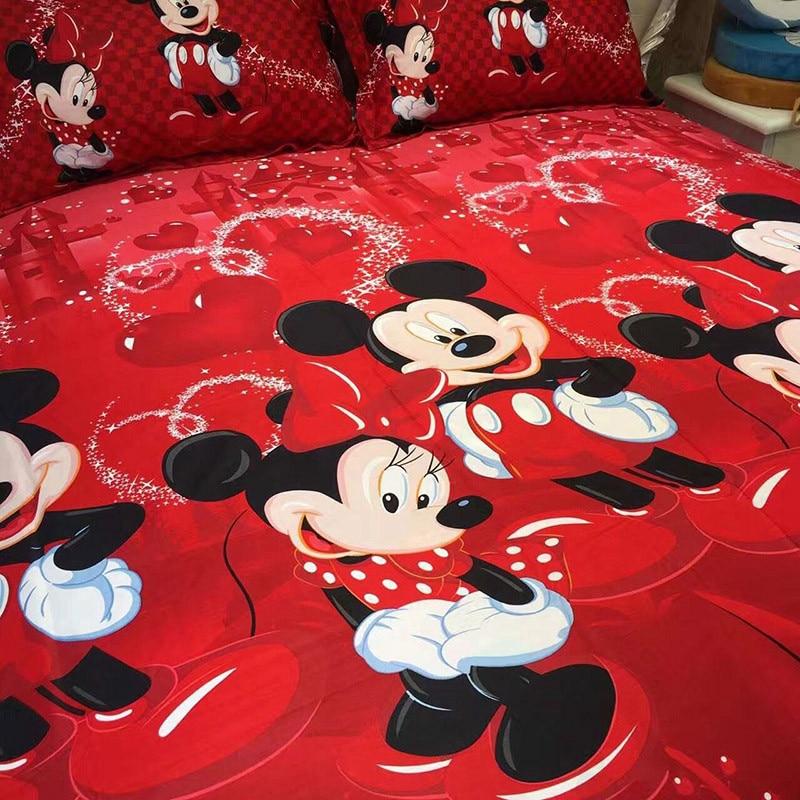 4 Pcs 100 Coton Linge De Lit 3d Mickey Mouse Ensembles De Literie