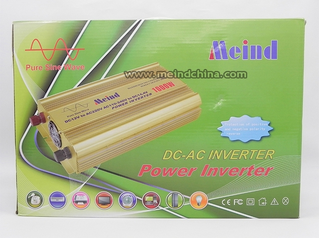 Meind@ High Quality Pure Sine Wave Built-In Charger UPS DC 24V to AC 220V Continuous 1000W Peak 2000 Watt Power Inverter