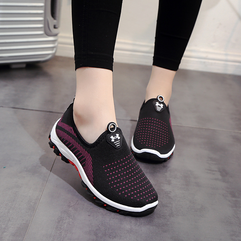 Spring Autumn Women Ladies Feminine Fashion Casual Mesh Air Shallow Low Comfort Zapatillas Slip-On Loafers Shoes Plimsolls foot sequins slip on plimsolls