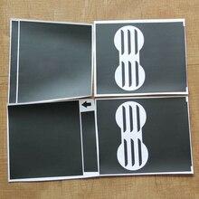 Car Set Black Console Vinyl Wrap Cup Top Center Stickers For Tesla Model 3 Decor