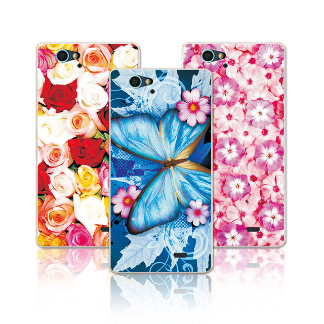 """For ZTE A475 Floral Art Painted Flower Soft Silicone Phone Case For ZTE Blade L4 Pro T610 Cover For fundas For ZTE A475 A 475 5"""""""