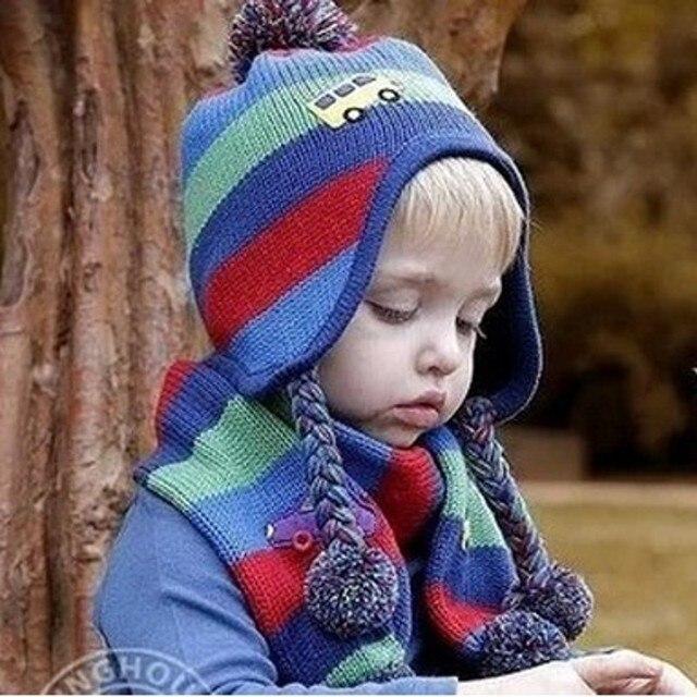 Die Neue Koreanische Stil Infant Baby Hut & Schal Auto Muster Warme ...