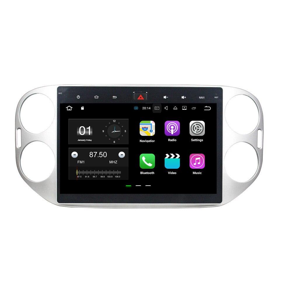 Android 7.1.2 dvd-плеер автомобиля мультимедиа головное устройство для Volkswagen Tiguan 2013-2015 в тире 2 Дин DVD GPS навигация в тире