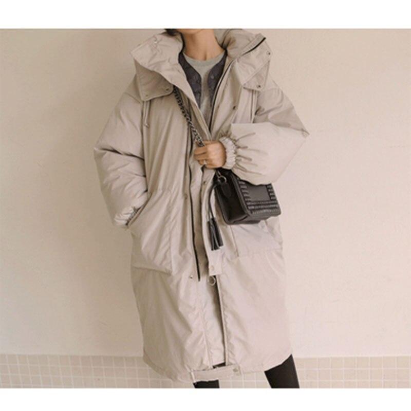 Женские зимние куртки размера плюс, повседневное пальто, женская парка с длинным капюшоном, утолщенная теплая Женская парка с хлопковой под... - 4