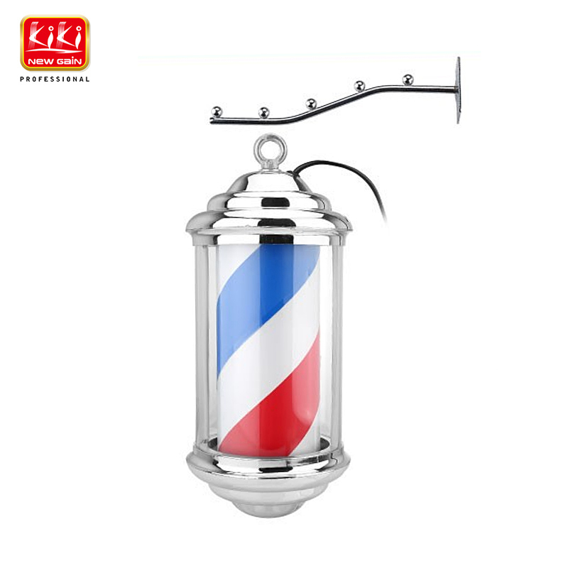KIKI.343 mini tamanho Poste de Barbeiro. roating e iluminação. equipamento do salão de beleza. sinal barbeiro. frete Grátis. hot vender