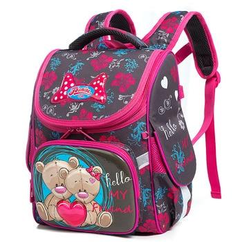 Top-Quality Girls 1-3 Primary School Backpacks Children Owl Bags For Boys Car Orthopedic Satchel Kids Cartoon 3D Backpack - discount item  30% OFF School Bags