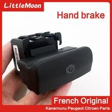 本物の新しいハンドブレーキボタン電子ハンドブレーキスイッチ駐車ブレーキ 470706/470702 プジョー 3008 5008 シトロエン C4 PicassoDS4