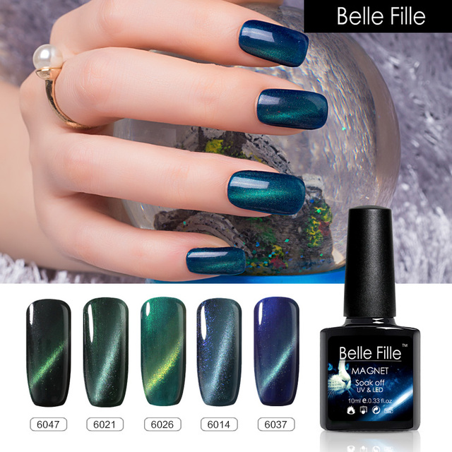 BELLE FILLE Cat Eye Line UV Gel Nail Polish Professional Magnet Nail ...