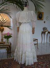 Romantic Tea Gown Victorian dress satin dressla dies blouse