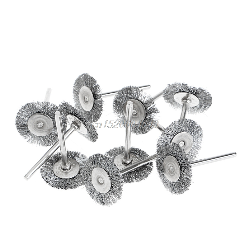 10Pcs Steel Wire Wheel Brushes Cup Rust Rotary Electric Tool Engraver Abrasive R06 Drop Ship wheat breeding for rust resistance