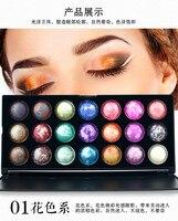 21 لون الأزياء ظلال مستحضرات ماكياج ظلال العيون المعدنية لوحة ظلال مجموعة للمرأة المكياج أدوات