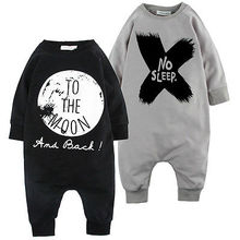 Cute Baby Girls Boys Romper Bodysuit Outfits Set Pajamas To the Moon and Back