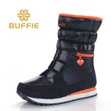 2018 Nieuwe stijl vrouwen laarzen mode zilveren winter laarzen warme snowboots Merk Buffie schoenen effen standaard laarzen gratis verzending hot