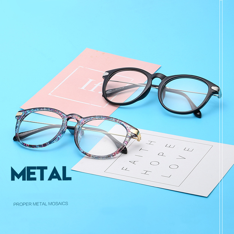 New fashion oval flat mirror metal trend men and women personality glasses frame can be equipped with myopia glasses frame.