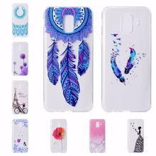 Ultra Thin Soft Silicone Case For Samsung Galaxy Note9 J3 J4 J5 J6 J7 J8 A5 2017 A6 A8 A9 Plus 2018 Flower Marble Pattern Covers(China)