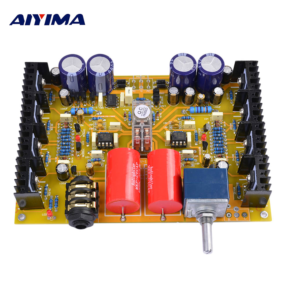 Aiyima HV-1 Headphone Amplifier Board Assembled Headphone Amp Audio Board Base On Beyerdynamic A1 цена 2017