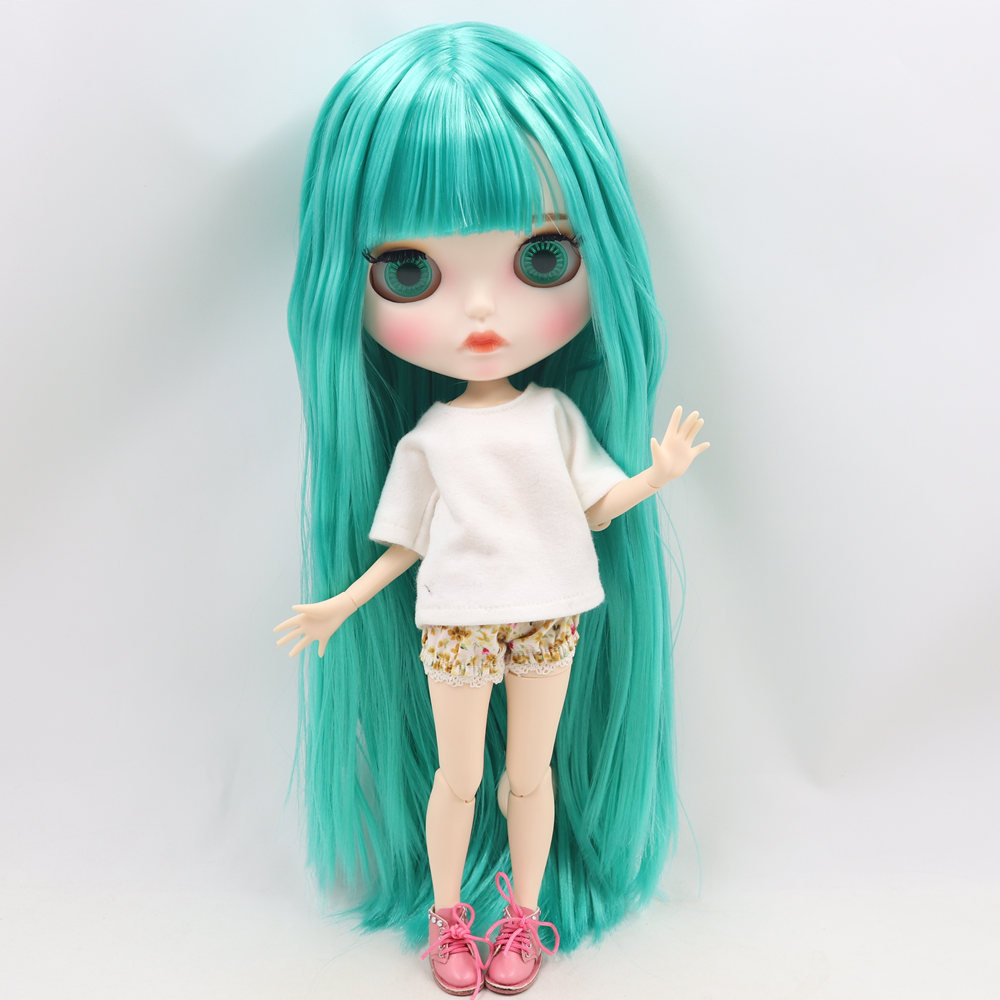 ICY Nude Blyth Doll No. BL4427 Gren hair Carved lips Matte customized face  Joint body 1/6 bjd-in Dolls from Toys & Hobbies    1