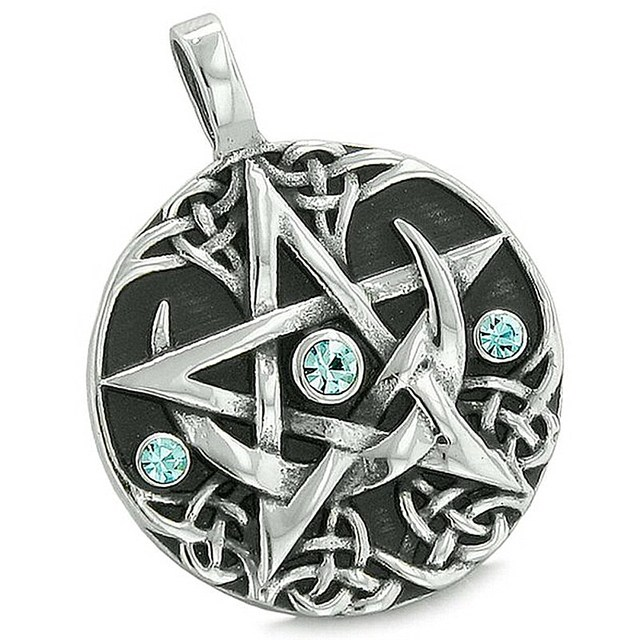 Aliexpress com : Buy Double Nose Fashion Crystal Star Of David Witchcraft  Wicca Religious David Star Pendants Charms For Men Necklaces Accessory DIY