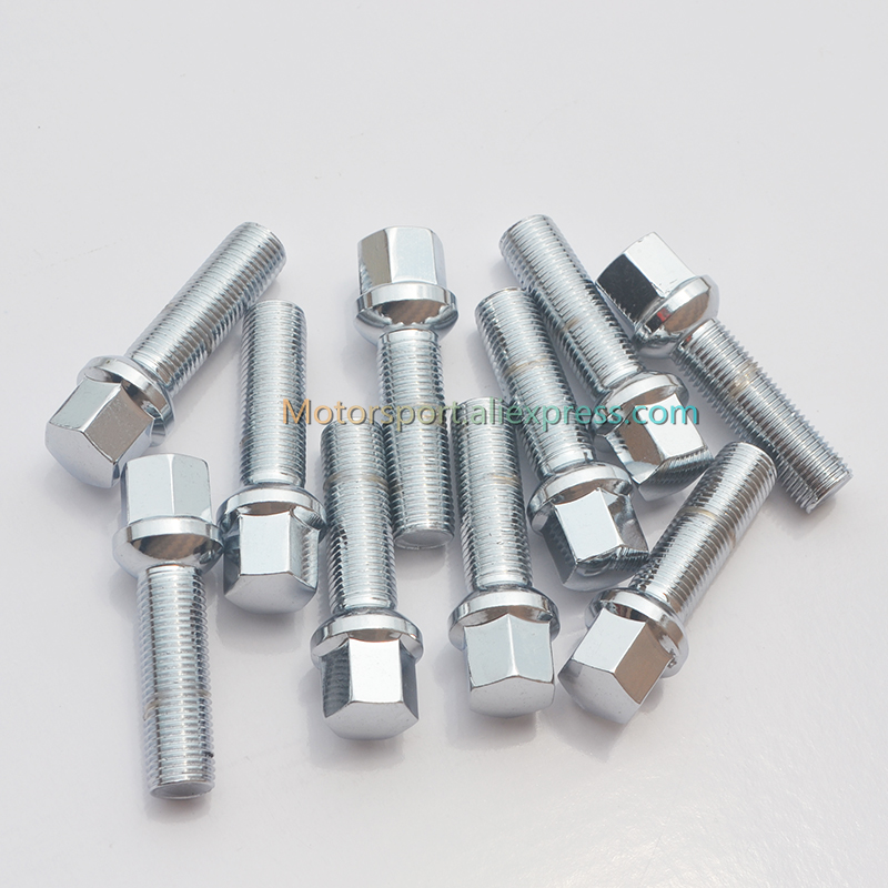 1pc 12x1.5| 12x1.25| 14x1.5| 14x1.25  40mm |45mm| 50mm| Car Wheel Spacer Adapter Wheel Bolts With Ball Seat