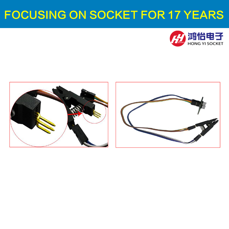 Burning chip test fixture SOIC8 SOP8 narrow body wide body IC universal test clip maxim 71m6521 6511 64 is offline on burning test tfp2 programmer private