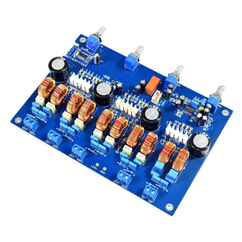 Carte amplificateur de puissance Audio KYYSLB carte amplificateur classe D 4.1 canaux carte amplificateur Bluetooth TPA3116 50 W * 4 + 100 W
