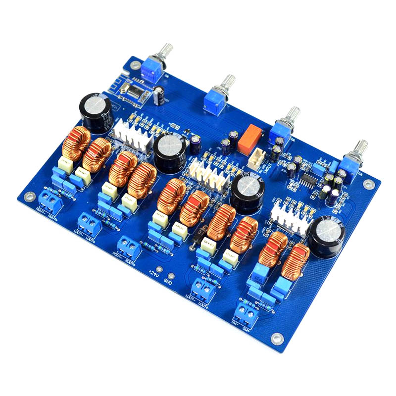 KYYSLB Audio power amplifier board 4.1 channel Class D amplifier board TPA3116 Bluetooth amplifier board 50W* 4+100W