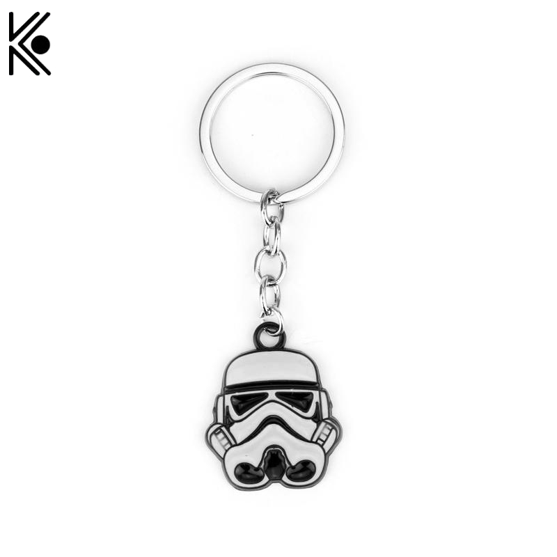 Mini Light Accessories Keychain Star Wars StormTrooper Helmet Storm Trooper Pendant Key Chain Darth Vader Mask Superhero Keyring
