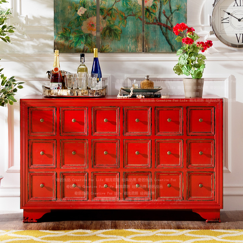Odd Ranks Yield New Classic Wood Furniture Yunxuan Eighteen Pumping Red  Door Entrance Hall Cabinet Drawers Sideboard H In Children Cabinets From  Furniture ...