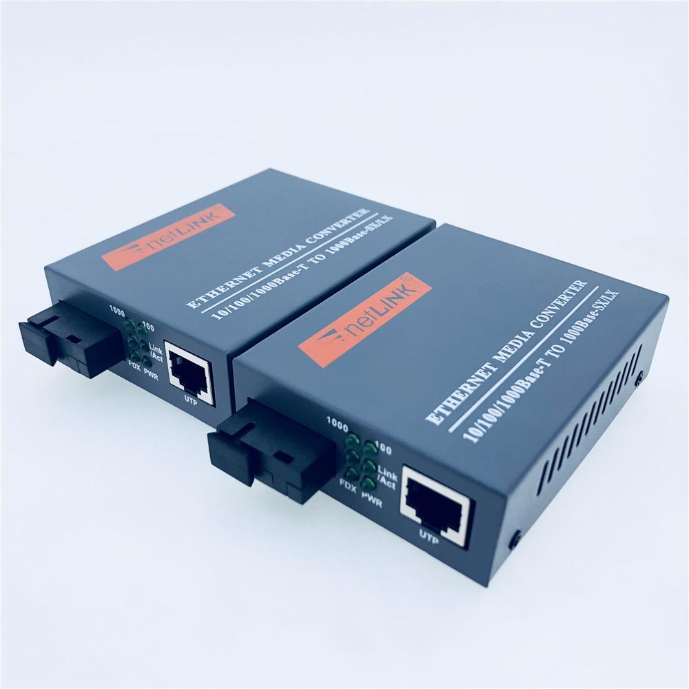 FTTH 1 Pair Gigabit Fiber Optical Media Converter 10 100 1000Mbps Single Mode Single Fiber SC