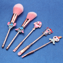New Arrival Cartoon Lilo and Stitch Makeup Brushes Set Beauty Make Up Brush Tool Cosmetic Powder Eye Shadow Pincel Maquiagem