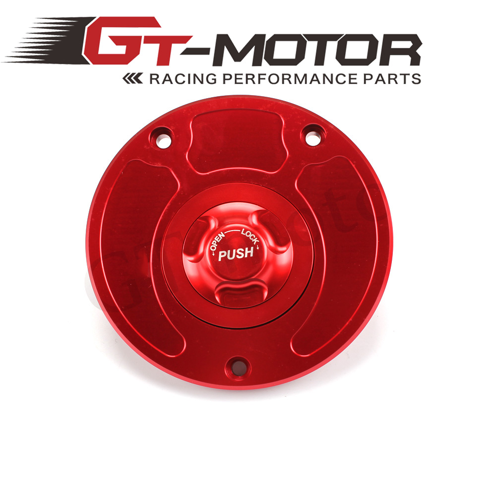 GT Motor - Motorcycle New CNC Aluminum Fuel Gas CAPS Tank Cap tanks Cover With Rapid Locking For KAWASAKI ZZR-1400 ER6N ER6F
