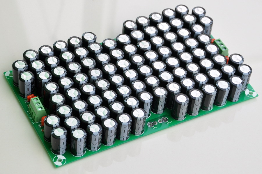 capacitors for power amplifier - 100,000uF Capacitors Module Board, for Upgrade Audio PreAMP or Power AMP.