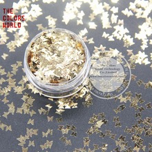 Nail-Decoration Luster Metallic Butterfly-Shape Gold-Colors for And Art DIY TCM0213 3mm-Size