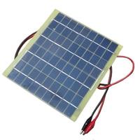 Universal Tragbare 5 Watt 18 V 290 mAh Solarmodul Solarzellen Batterie Handy-ladegerät Batterie Mobile Handy Power