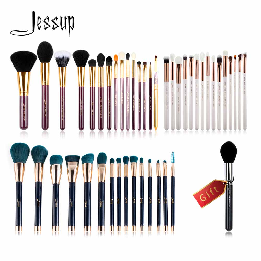 Jessup Buy 3 get 1 free gift Makeup Brushes set professional make up kit Powder Foundation Eyeshadow Eyeliner Lip Brush Tool new pro 22pcs cosmetic makeup brushes set bulsh powder foundation eyeshadow eyeliner lip make up brush high quality maquiagem