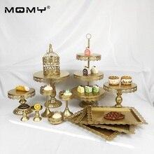13 Pcs Wedding Cupcake Set Gold Metal 3 Tier Iron Small Birdcage Cake Stand
