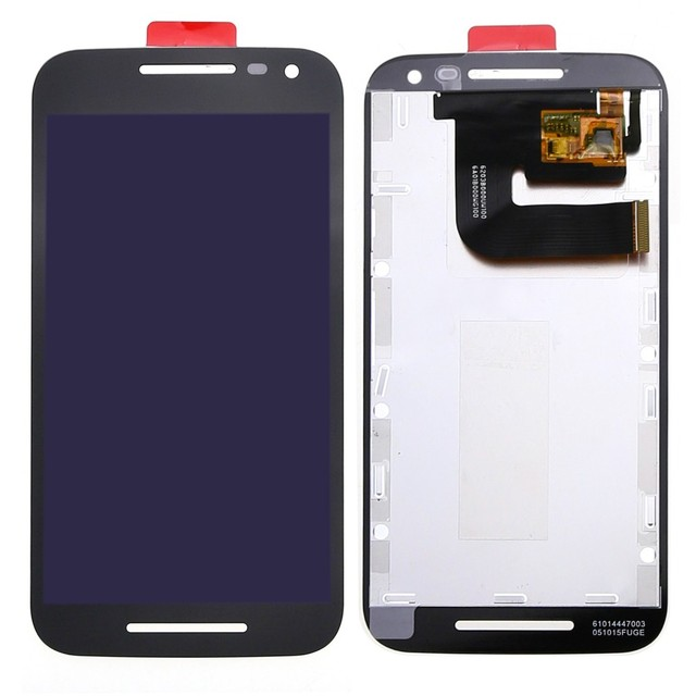 Preto/branco display lcd touch screen digitador quadro assembléia capa para motorola moto g3