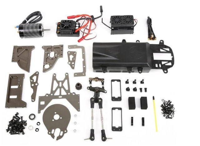 E-Baja Conversion Kit (1/5 Gas Powered Baja to Electric Brushless Motor Baja) FOR HPI KM ROVAN 5B 5T SC rc car parts high strength nylon front crash bumper kit fit 1 5 hpi baja 5t rc car parts