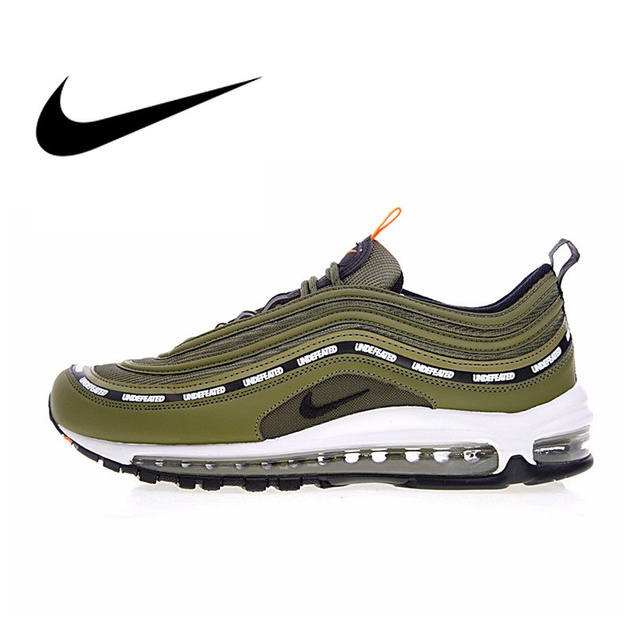 reputable site 2a6c3 f73a4 Nike Air Max 97 OG x Undefeated Olive Mens Breathable Running Shoes  Outdoor Sneakers Sports 2018
