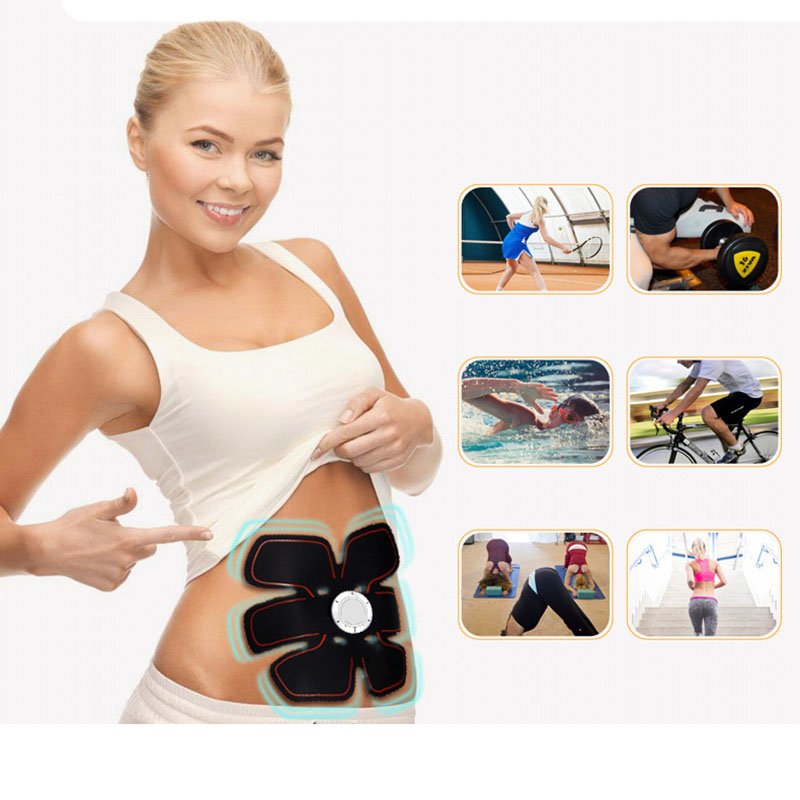 Smart EMS Bodybuilding Muscle Trainer Massager Fitness Abdominal Muscles Intensive Training Stimulator Arm Body Slimming Toning
