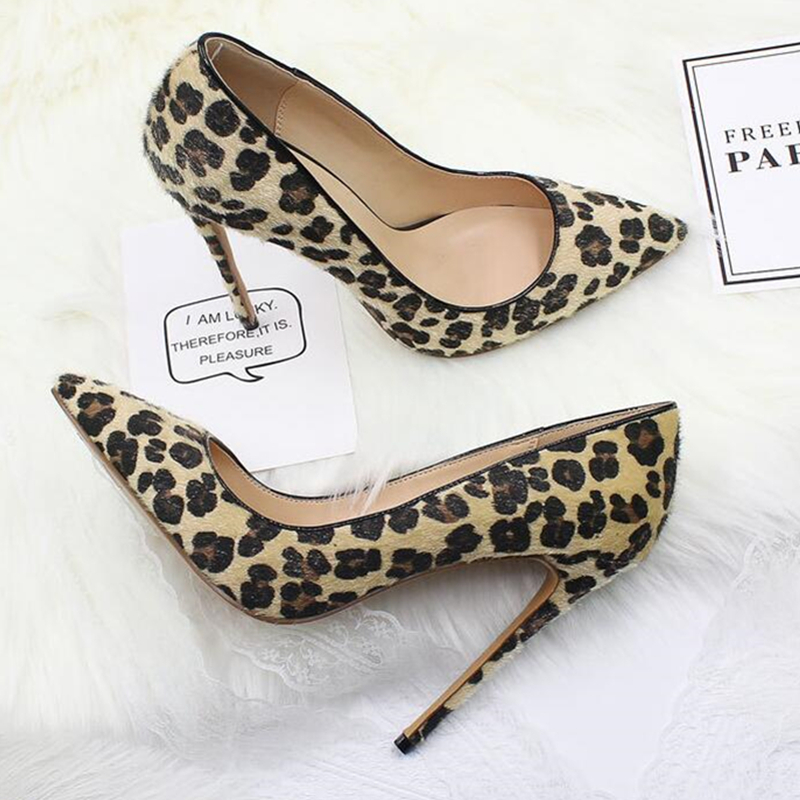 So Nice Kate Leopard Pumps Sexy Women High Heels Party Shoes Pointed Toe High Heel Wedding Shoes Ultra Thin High Heels Pumps 43
