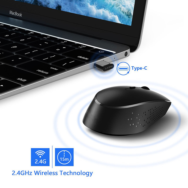 Online Shop Jelly Comb 2.4G USB Type C Wireless Mouse Rechargeable