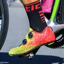 Santic Carbon Fiber Men Cycling Road Shoes Two Color Breathable Triathlon Zapatillas Ciclismo MS17007